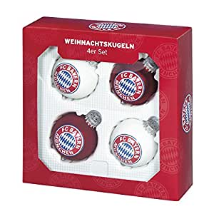 FC Bayern München Christbaumkugeln 4er-Set: Amazon.de