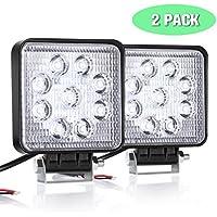 AMBOTHER Arbeitsscheinwerfer, LED Zusatzscheinwerfer 6 Inch Arbeitsleuchte Flutlicht Worklight Arbeitslicht 5050 SMD 1600LM IP67 18W 2 Stück (4 Inch)