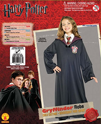 Image of Rubie's Official Harry Potter Gryffindor Classic Robe Childs Costume - Large