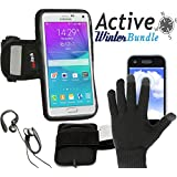 Navitech bon plan sport : brassard pour smartphone + gants tactiles pour Samsung Galaxy Ace 4 / Samsung Galaxy S4 Mini / Samsung GS3 Mini