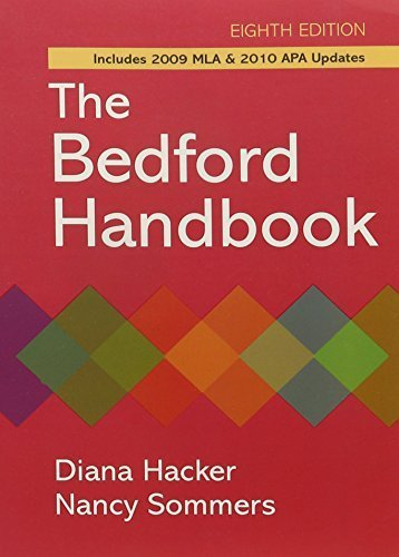 Bedford Handbook 8e paper & E-Book 8th edition by Hacker, Diana, Sommers, Nancy (2010) Paperback par Diana, Sommers, Nancy Hacker