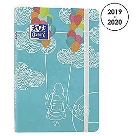 Oxford Lollie – Agenda scolastica giornaliera 2019-2020, 1 giorno, 352 pagine, 12 x 18 cm, colore: Turchese