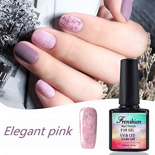 10ml smalto semipermanente UV LED gel smalto per unghie elegante pelliccia rosa per l'autunno autunnale