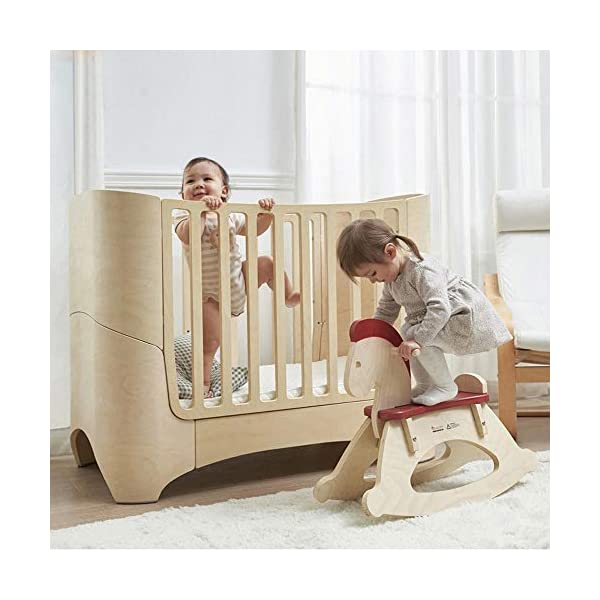 VBARV 4-in-1 baby cot, height adjustable children's play cot, multifunctional 0-12 year-old changing bed, fixed side cot, solid pine structure Children's bedroom furniture VBARV Easy-to-use design: Convertible cribs on the fixed side make it easy to convert a crib from a crib to a toddler / day bed or even an entire bed! This versatile crib will provide your child with a comfortable place to sleep from infancy to adolescence. Adjustable Mattress Height: The convertible crib has 3 adjustable mattress heights to keep your baby safely and comfortably in bed until the adult grows up. This convertible adjustable bed will make your life unforgettable. 2