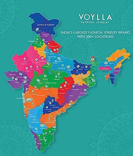 Voylla Multicolour Brass Mandala Rangoli Inspired Tassels Earrings for Women