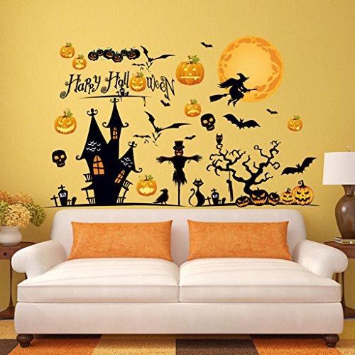 r Restaurant Hintergrund Wallpaper Dekoration Removable Aufkleber Creative Wallpaper Wandaufkleber Halloween ()