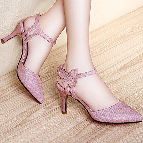 ZPPZZP La sig.ra sandali porta luce in stile Coreano punta-punta a tacco alto con fine 38EU