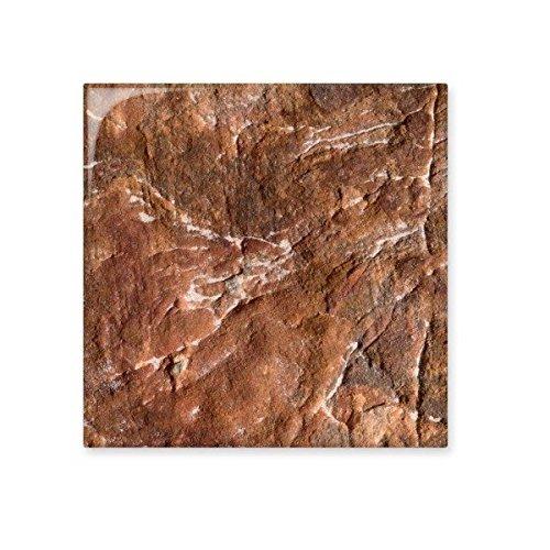 DIYthinker Rotbraunen Felsen Rau natürliche Oberfläche Illustration Muster Keramik Bisque Fliesen für Dekorieren Badezimmer-Dekor Küche Keramische Fliesen Wandfliesen L - Natürliche Keramik-fliese