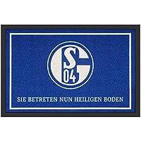 Fußmatte - S04 - Heiliger Boden   Fußball Geschenke   Türvorleger mit Spruch   Schalke Fanartikel   Schmutzmatte Eingangsbereich   Geschenk für Männer   Preis am Stiel®