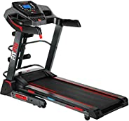 Fitfiu Fitness MC-100 - Cinta de correr plegable con velocidad ajustable hasta 10 km/h, inclinación manual, su