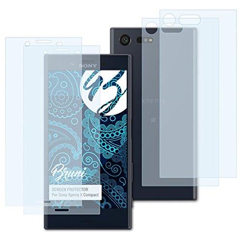Bruni Schutzfolie für Sony Xperia X Compact Folie, glasklare Displayschutzfolie (2er Set)