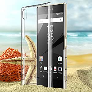 ESI Ultra Thin Crystal Clear Transparent Hard Case Back Cover for Sony Xperia Z5 Plus