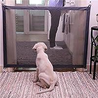 per Puerta de Barrera de Seguridad para Perros Puerta Plegable Portátil Interior para Mascotas Puerta de
