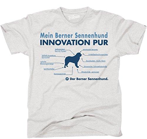 Siviwonder Unisex T-Shirt INNOVATION BERNER SENNENHUND TEILE LISTE Hunde lustig fun Ash
