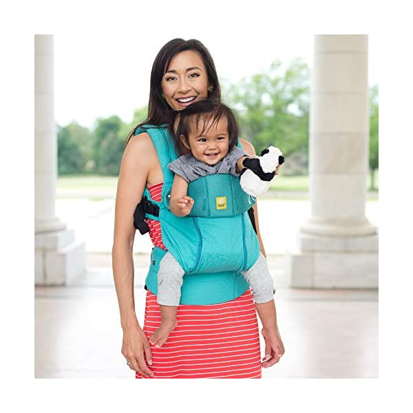 LÍLLÉbaby  Complete All Seasons 6-in-1 Baby Carrier, Carribean Sea Lillebaby With a temperature regulating breathable panel that unzips to encourage airflow in warm conditions and 6 carrying positions - Foetal, infant inward, outward, toddler inward, hip, back - The only carrier you'll ever need! Suitable from 3.2- 20kg (birth to approx. 4 years old), providing extended comfortable use for parent and child with no additional infant support required for new-borns - the ergonomic adjustable seat is acknowledged as 'hip-healthy' by the International Hip Dysplasia Institute Unique spacious head support with elasticated straps - soothes infants with gentle lulling motion and provides excellent support as children grow 7