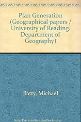 Plan Generation (Geographical papers / University of Reading. Department of Geography)