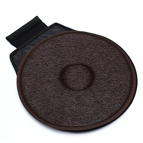 Cxsions seggiolino auto antiscivolo girevole cuscino girevole schiuma girevole mobilità cuscino di seduta per sedia nella sedia tie on pad tappetino per transfer anziani marrone scuro