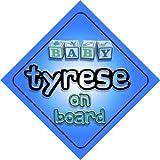 Tyrese bébé garçon sur planche nouveauté voiture Panneau cadeau/Cadeau pour nouveau/Nouveau-Né Bébé Enfant