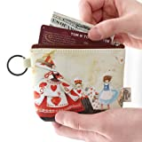 Women Canvas Wallet Small Clutch Zip Card Coin Purse Key Holder Handbag Pouch Pack of 1 Color & Design May Vary As Per Availability (With Free Token)