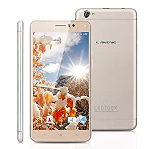 """5.5"""" Schermo IPS HD Landvo XM100 Pro 3G Smartphone Android 5.1 MT6580 Quad Core 1.3GHz 1GB RAM + ROM 8GB Cellulare Doppia SIM Intelligente Wake WIFI Oro"""