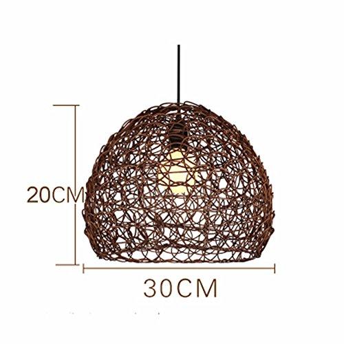 LighSCH Pendelleuchten Kronleuchter Eine idyllische Cane Restaurant Bar Lampe Lampen Orbs Schlafzimmer Balkon Beleuchtung Espresso Braun 30 * 20cm