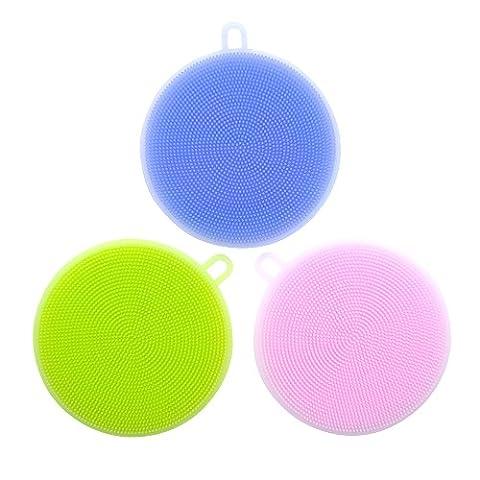 Merlilive-Nettoyant multifonctionnel antibactérien, éponge intelligent, outils de nettoyage 3 pièces (Multicolour)