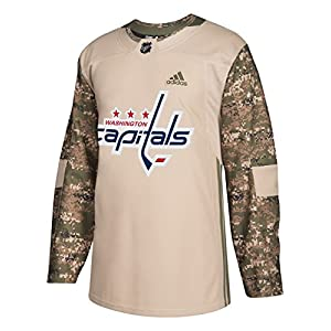 adidas Washington Capitals NHL Edge Camouflage Pre-Game Authentic Warm Up Jersey