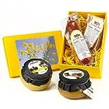 Geschenk Set Senf-Variationen mit Riesling- und Feigensenf und Salami