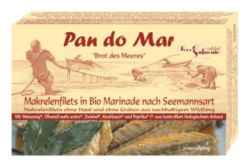 Pan do Mar Makrelenfilets in Bio Marinade, 5er Pack (5 x 120 g)