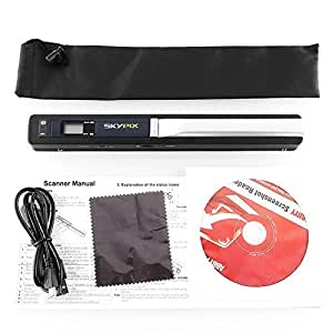 Skypix TSN410 Portable Handheld Scanner Cordless 900DPI Resolution - A4 Color Photo Document Instant Handy Scan, Digitize Anything