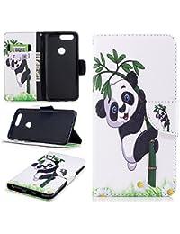 Coque pour OnePlus 5T , IJIA Adorable Panda Géant PU + TPU Doux Silicone  Slot Flip c974d0ca4bc