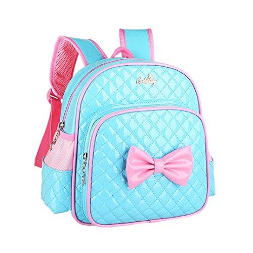 sunnymi Bogen Muster★Kinder Mädchen Rucksack★PU Mini Backpack /Schule Baby-Kindergarten Hartschale/Gartentasche (Blau)