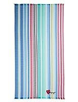 Pareo Desigual Summer Stripes Pronti per il mare? Volete un'idea originale per andare al mare con zero peso e senza l'ingombro del telo mare? Allora questo kikoy è ciò che fa per voi! Leggero e colorato, metà pareo e metà telo, con tessuto di...