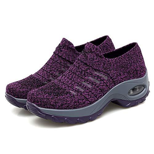 Nicetruc beiläufige Damen Turnschuhe Frauen Aufstockung Mesh-Straßenlauf-Schuh-Plattform Breathable Air Cushion Fitness-Schuhe