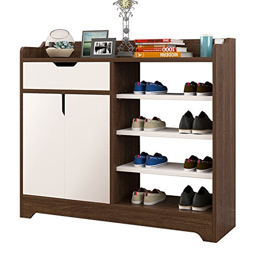 Oak Hall-möbel (ZR- Türschuh Einfache Montage Platzsparende Haushalt Hall Cabinet Nachahmung Holz Farbe Eingangsschrank Aufbewahrungsbox Regal Einfach Und Modern -- Wanddekoration ( Farbe : Oak color-79.4*30*80cm ))