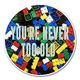 2x Funny Lego Vinyl Aufkleber Aufkleber Laptop Reise Gepäck Auto Ipad Schild Fun # 6143-10cm/100mm Wide