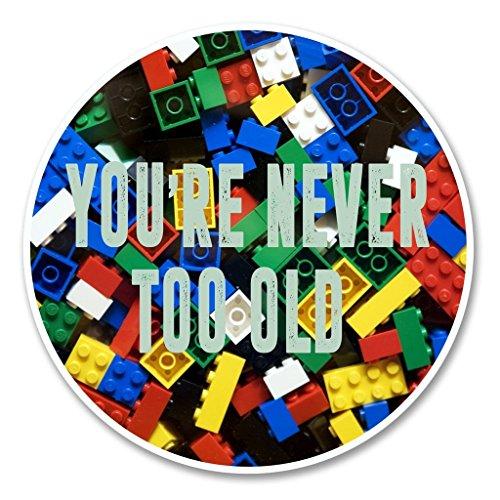 Preisvergleich Produktbild 2 x Funny Lego Vinyl Aufkleber Aufkleber Laptop Reise Gepäck Auto Ipad Schild Fun 6143-10cm / 100mm Wide