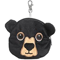Black Bear Stuffed Animal Plush Pouch Purse Animal Case Clip on Bag Animal Zipper Pouch Wallet Bag by Small of the Wild - Peluches y Puzzles precios baratos