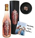 100% Vintage Rose Weingeschenk Moment Clé Rosé limitiert auf 5.000 Flaschen Rosewein aus Frankreich im Geschenkset für Frau, Freundin Angel Luxus Weinliebhaber