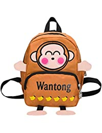 ce145653ef1e45 Elecenty Zaino Sacchetto di scuola del bambino dello zaino della lettera  della scimmia del fumetto dei