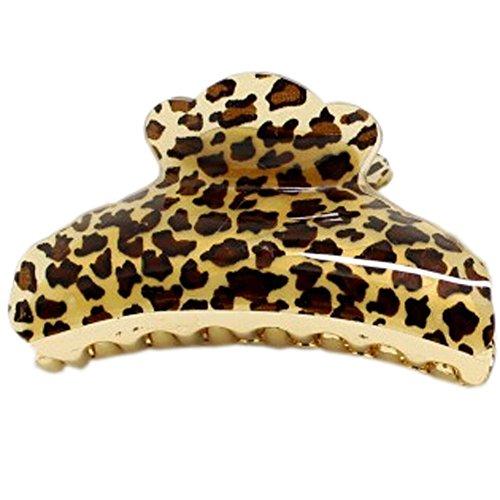 Ensemble de 3 belle épingle à cheveux / pince cheveux, noir Imprimé léopard