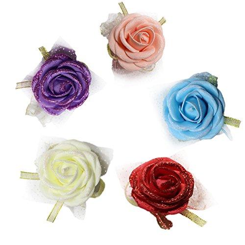 5x da.wa da sposa con bracciale braccialetto del fiore bouquet da sposa da sera cinturino porm decorazione