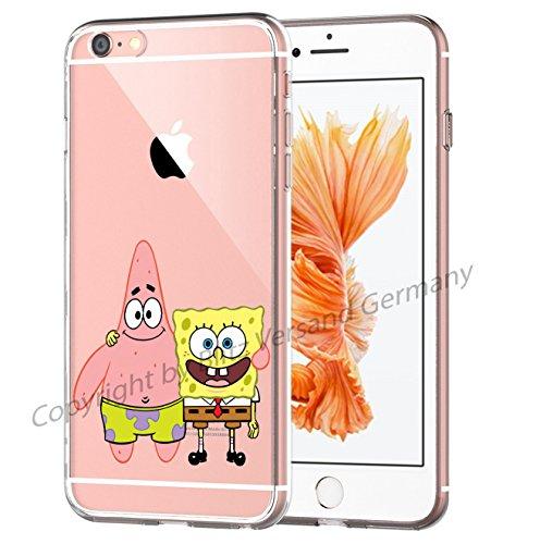 Blitz® Disney Schutz Hülle Transparent TPU Cartoon Patrick & Sponge Bob M16 Huawei P8 Lite (Spongebob Patrick Und)