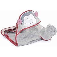 Top Baby Kapuzenbadetuch 4st Waschtücher  Geschenkset 5 teilig Eule   TOP