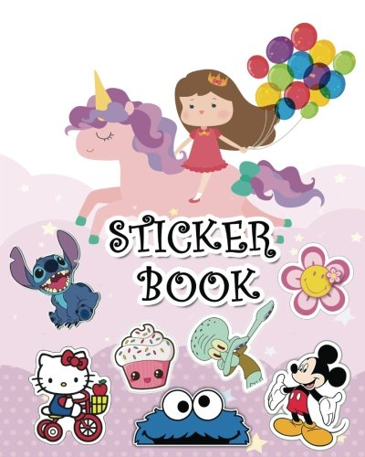 Sticker Book: Ultimate Blank Sticker Book for Kids, Sticker book Collecting Album: Blank Notebook Pages, Size: 8