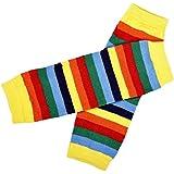 Koly® Arco iris de la niña Calcetines rodillera Amarillo