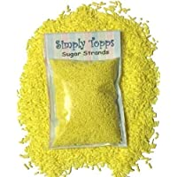 Yellow Sugar Strands cake sprinkles 30g for cake or cupcake decorations