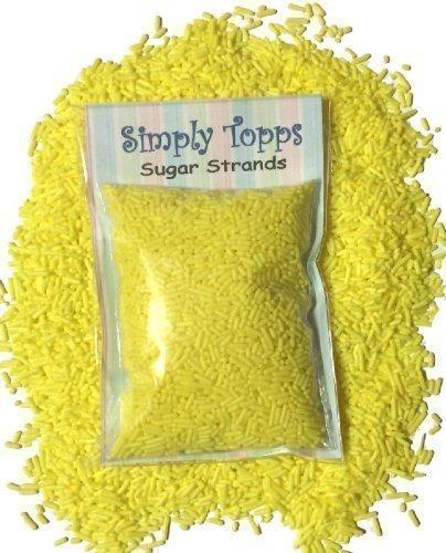 Gelb Zucker Stränge kuchen streusel 30g für kuchen und cupcake deko