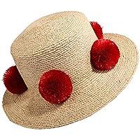 Sombrero de paja de verano para mujer Sombrero flojo de vacaciones de ala  ancha para mujer Gorra grande 50+ Sombrero transpirable suave para el sol  de ... 84141e1bf77