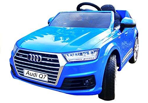 Elektro Kinderauto Elektrisch Ride On Kinderfahrzeug Elektroauto Fernbedienung - AUDI Q7 - Blau